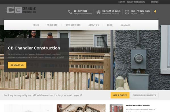 website-design-richmond-virginia-cb-chandler-construction