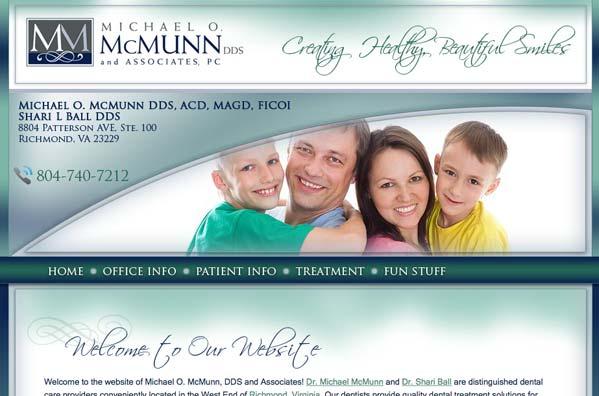 website-design-richmond-virginia-mcmunn-dentist